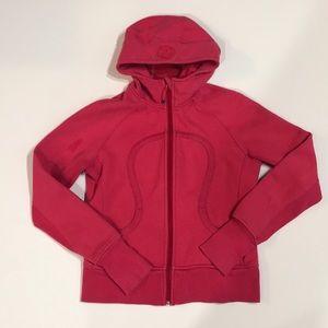 Lululemon dark pink scuba hoodie Size 10